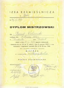 dyplom mistrzowski wulkanizatorstwo 2