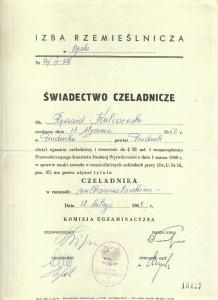 učňovský certifikát pro vulkanizátor